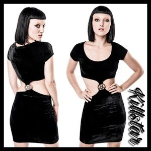 New! Killstar Stacia She's A Hoodbat Bodycon Dress